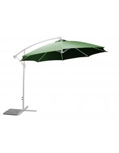 Parasol Déporté 3 m ECO - Fibre de verre et Aluminium -  Avec manivelle - Proloisirs