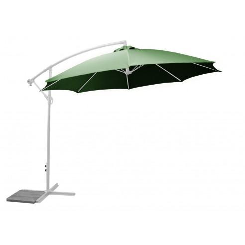 Parasol déporté Vert 3 m ECO inclinable avec manivelle - Proloisirs