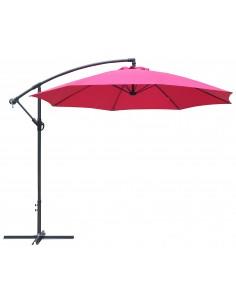 Parasol déporté Ø300 cm Aluiminium Grey inclinable avec manivelle - Proloisirs