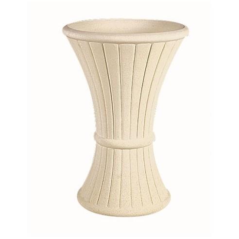 Vase décor 253 ton blanc en pierre reconstituée - Grandon