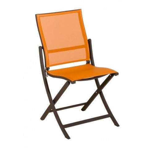 La chaise Teaser marron/orange Les Jardins.