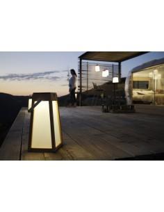 Lanterne solaire et rechargeable TECKA Teck H.38 cm - Les Jardins