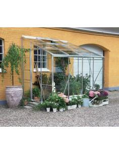 Serre Royal HALLS 4.85 m² laquée verte en verre trempé 3 mm