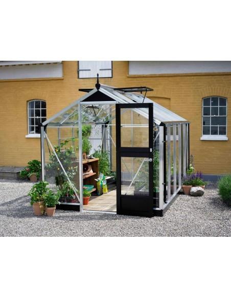 Serre Compact JULIANA+verre trempé - Naturel ou anthracite de 5 à 8.2 m²