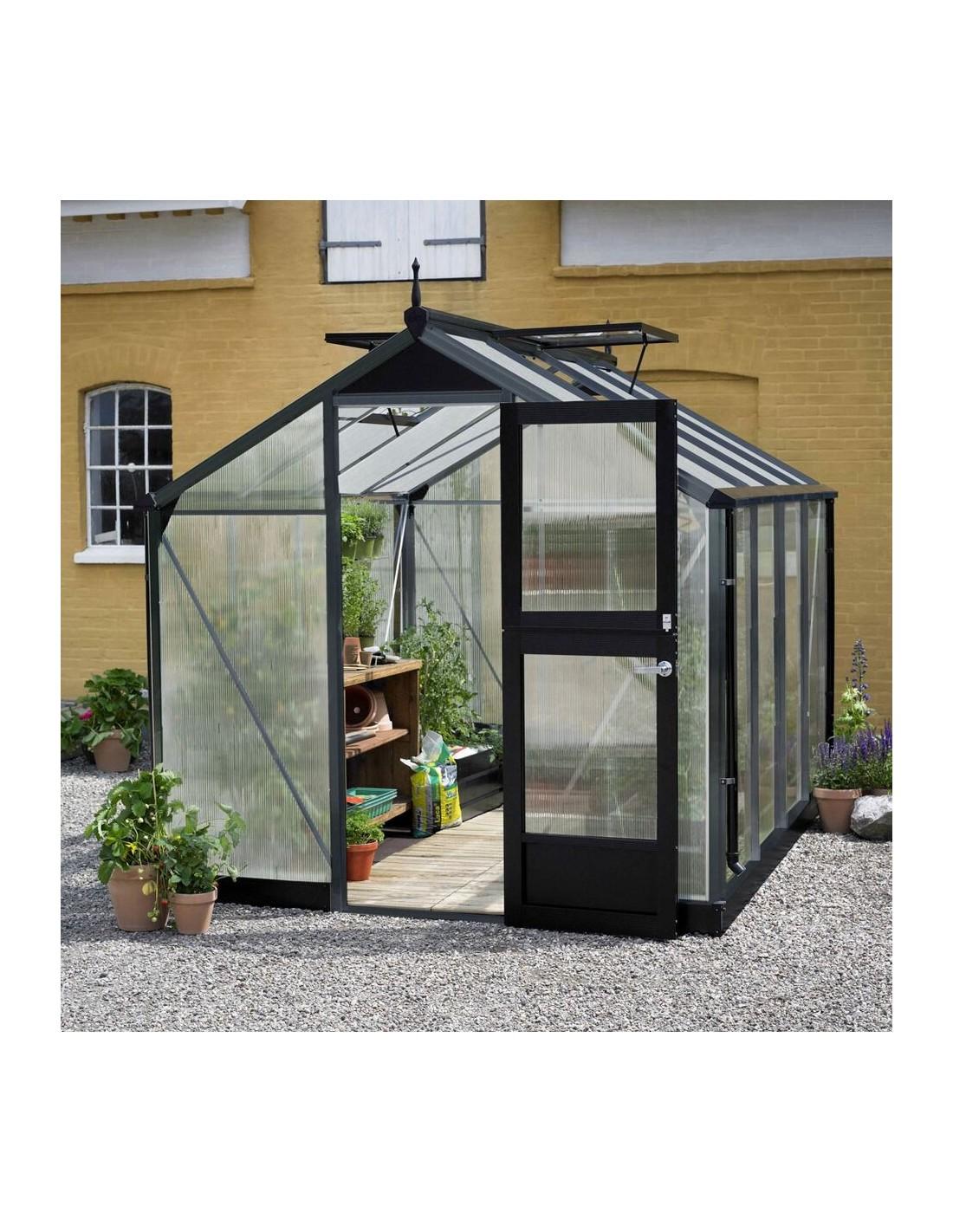 Serre Compact JULIANA+polycarbonate - Naturel ou anthracite 5 à 8.2 m²