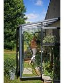 Serre véranda murale en verre trempé+embase - Juliana 6.6 m² coloris au choix