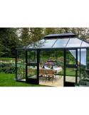 Serre Oase JULIANA+verre trempé sécurit - Naturel ou anthracite de 13 m²