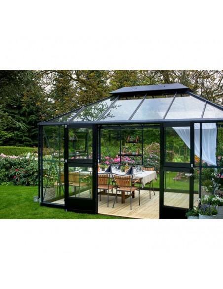 Serre Grand Oase JULIANA+verre trempé sécurit - Naturel ou anthracite de 13 m²