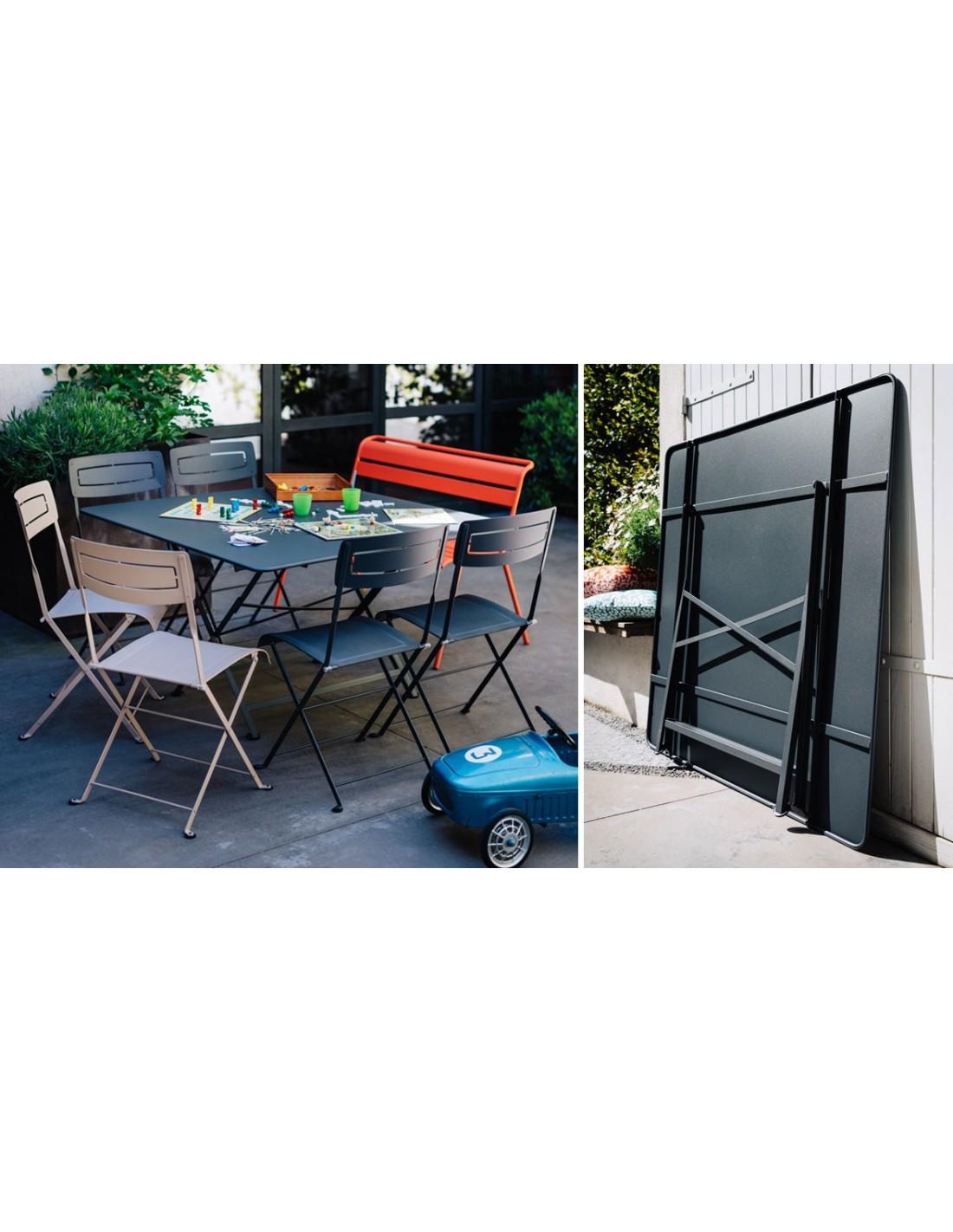 Table de jardin Cargo carrée 128 x 128 cm pliante - Fermob