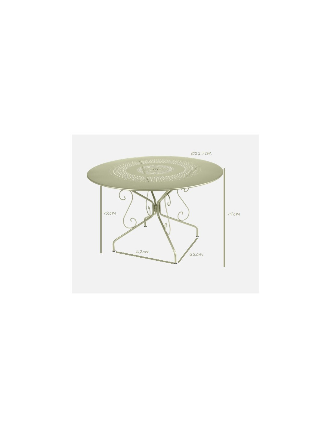 Table métal Montmartre ronde Ø117cm collection Fermob