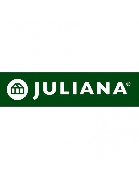 Serre Junior JULIANA+polycarbonate de 6 mm - Naturel ou anthracite 9.9 ou 12.1 m²