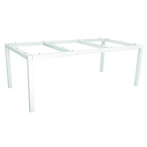 Table Stern 200 x 100 cm Aluminium blanc - Plateau HPL au choix