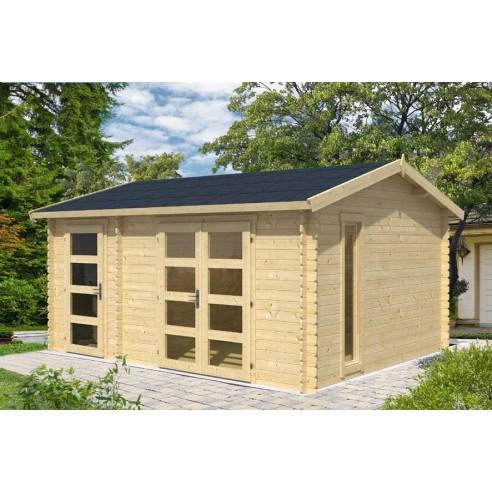 Abri de jardin Carroz 16.4 m² en bois massif 28 mm