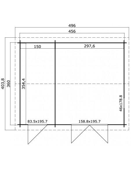 Abri de jardin Carroz 16.4 m² - Bois massif 28 mm