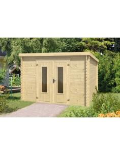 Abri de jardin Sacramento 8.5 m² - Bois massif 28 mm