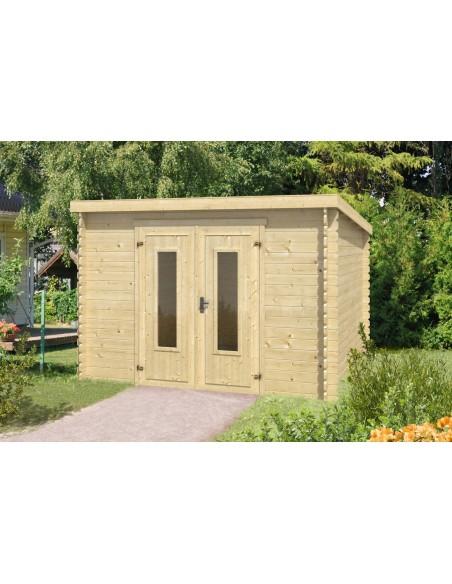 Abri de jardin Sacramento 8.5 m² en bois massif 28 mm