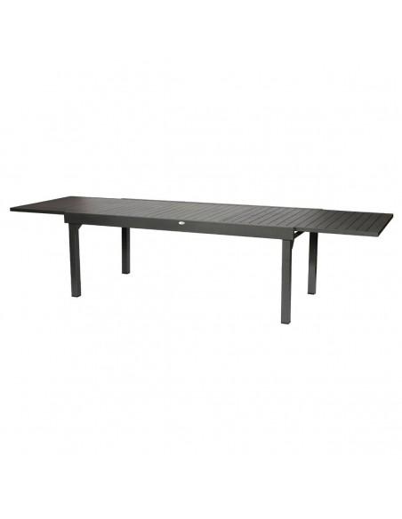 Table Piazza Graphite 12 places - 200/300 cm - Aluminium - Hespéride