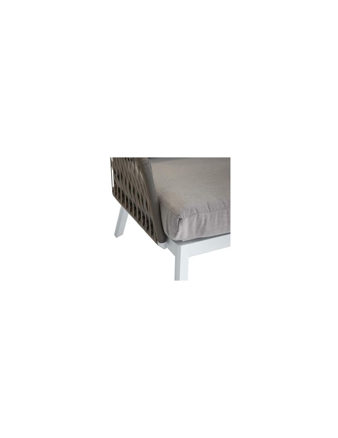 canap de jardin barcelone 2 places aluminium et maille. Black Bedroom Furniture Sets. Home Design Ideas