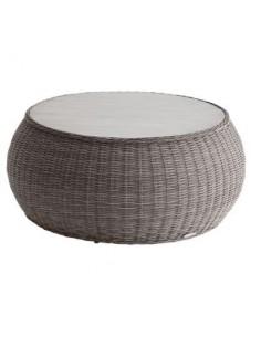 Table basse Bétong ronde Ø93 cm en Aluminium et résine HESPERIDE