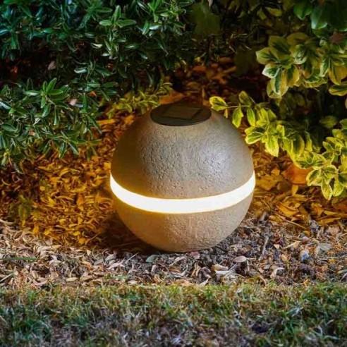 glam rock orbe boule solaire d 39 ext rieur 18 x 20 cm. Black Bedroom Furniture Sets. Home Design Ideas