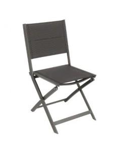 Chaise de jardin Allure matelassée et pliante - Praliné/Speculos - Hespéride