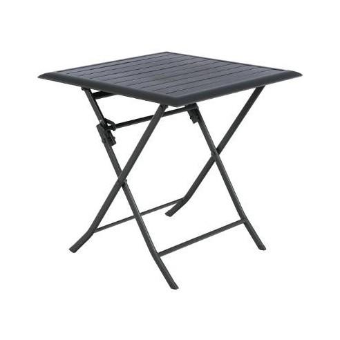 Table de jardin Azua pliante 2 places - Aluminium graphite - Hespéride