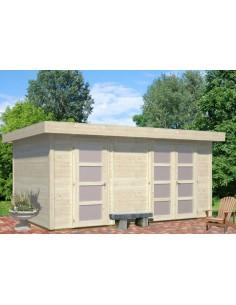 Abri de jardin Lara 13 m² - Bois massif 28 mm