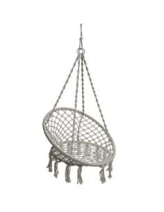 Chaise suspendue Plumaya en macramé - Hespéride