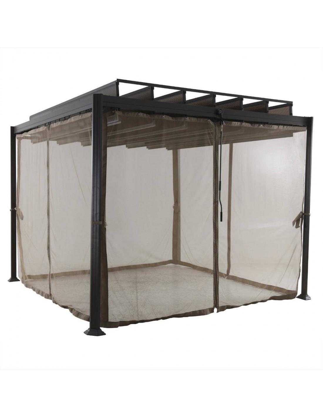moustiquaire pour tonnelle de jardin flamenco en polyester. Black Bedroom Furniture Sets. Home Design Ideas