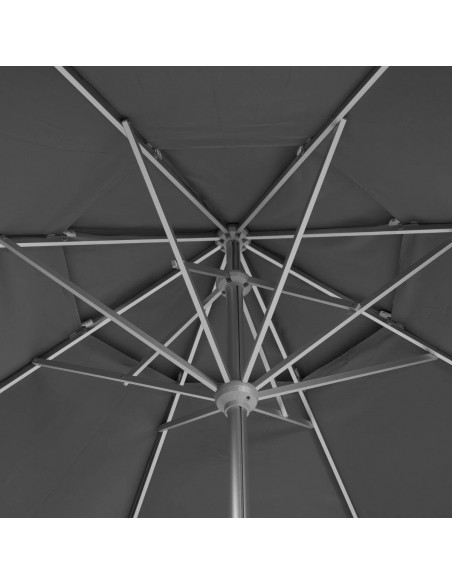 Parasol droit rond téléscopique EASYO - Hespéride