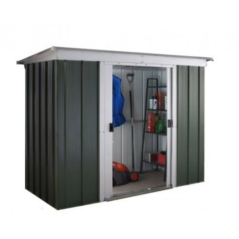 Abri de jardin métal 2.4 m² au choix - Vert sapin