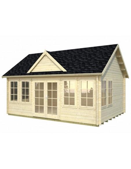 Abri de jardin Claudia 20 m² habitable avec plancher en bois massif 44 mm