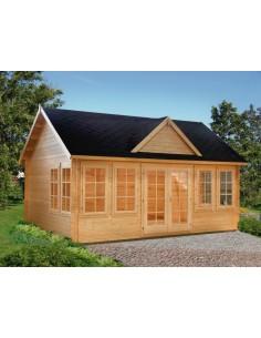 Abri de jardin Claudia 20 m² habitable avec plancher - Bois massif 44 mm