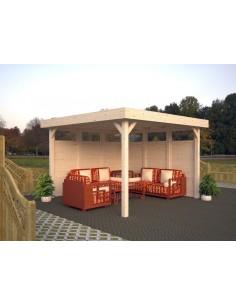 Tonnelle de jardin Lucy 12.5 m² - Bois massif lamellé-collé