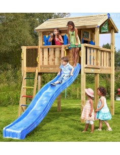 Tour de jeux Jungle Playhouse XL+toboggan de 2.65 m