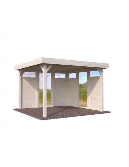 Tonnelle de jardin Lucy 12.5 m² en bois massif lamellé-collé