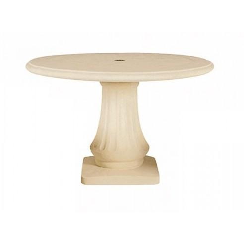 grande vente cb19e 55487 Table ronde 120 cm en pierre reconstituée - Grandon