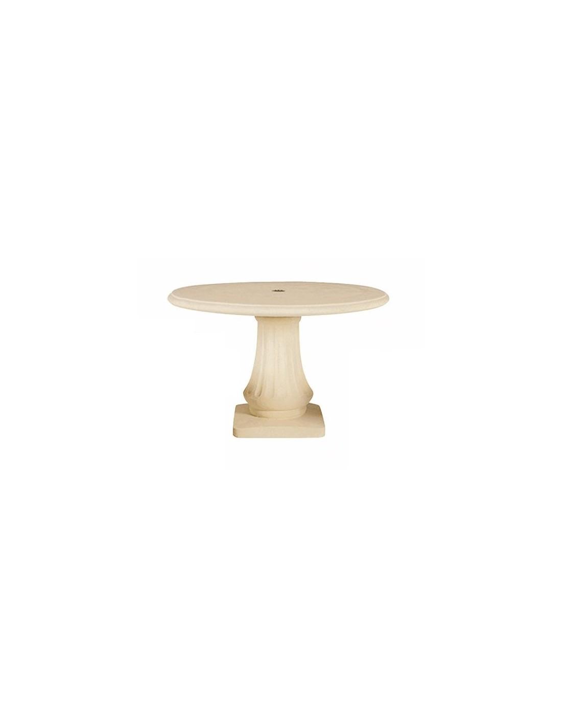 Table ronde 120 cm en pierre reconstituée - Grandon