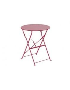 Table pliante ronde 2 places Camargue Acier coloris au choix -HESPERIDE