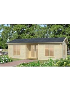 Résidence de loisirs Anna 30.8 m² - Plancher inclus - Bois massif 70 mm