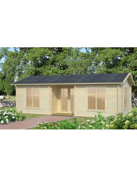 Résidence de loisirs Anna 30.8 m² en bois massif 70 mm
