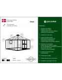 Serre Oase JULIANA+verre trempé sécurit - Naturel ou anthracite de 13.5 m²