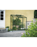 Serre Altan 2 HALLS 0.9 m² laquée verte en verre 3 mm