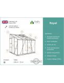 Serre Royal HALLS 7.2 m² en verre trempé 3 mm