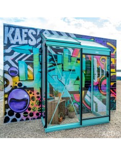 Serre Miccolo murale ACD 1.2 m² en verre trempé sécurit 4 mm