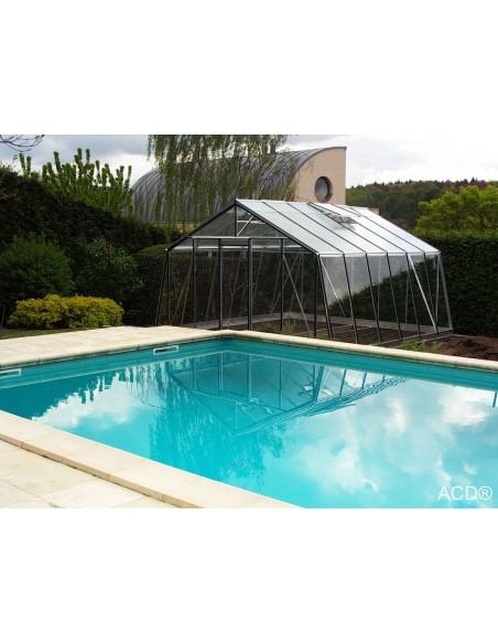 Serre ACD S106H 13.6 m² en verre trempé sécurit