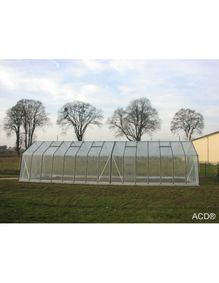 Serre ACD 4.53 m de large suface au choix de  10.1 à 33.6 m²