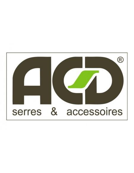 Serre ACD R205H noire 8.6 m² en verre trempé sécurit
