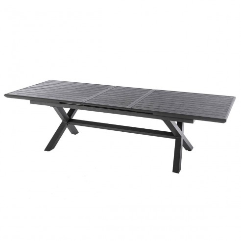 Table de jardin extensible Axiome - aluminium - 10 places - Hespéride