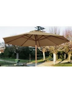 parasol bois avec ouverture manivelle proloisirs. Black Bedroom Furniture Sets. Home Design Ideas